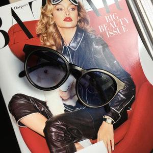 NWT FREE PEOPLE unisex sunglasses black/gold